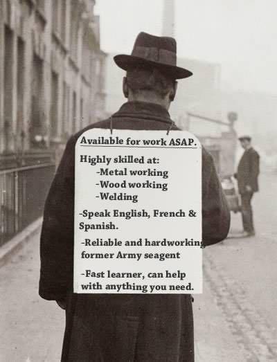 Chômeur crise de 1929