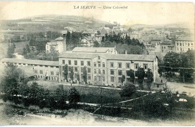 Usine Colcombet de la Seauve, carte postale, coll. partic.