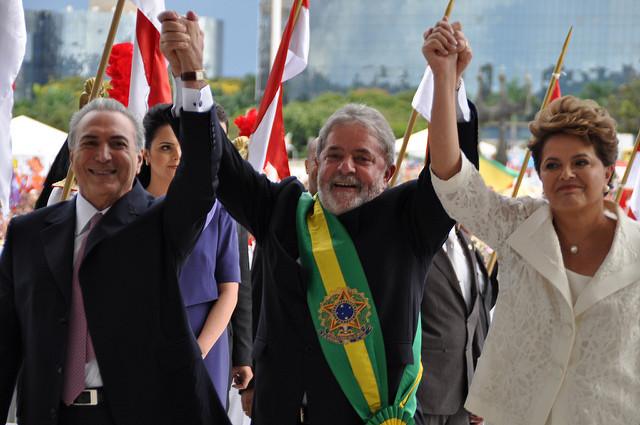 Ministério das Relações E- Presidenta Dilma Roussef, Presidente Lula e o Vice-Presidente Michel Temer(CC BY-ND 2.0)