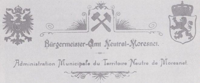 En-tête de lettre et sceau du territoire neutre