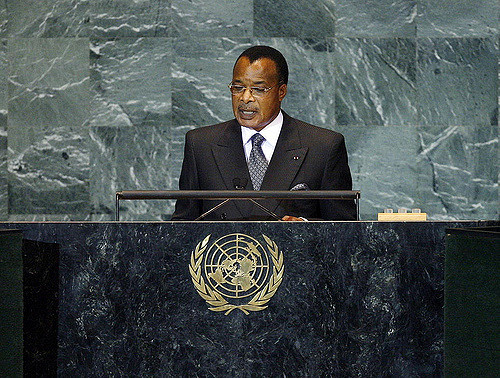 Denis Sassou Nguesso, President of the Republic of the Congo, in 2009.