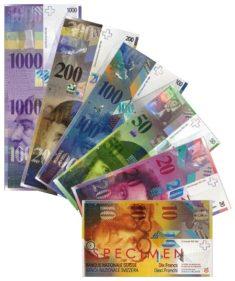 Billets francs suisses