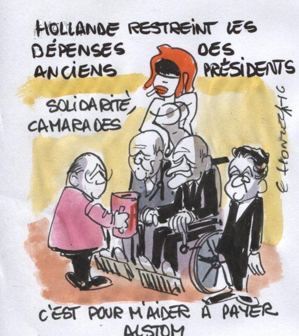 Hollande restreint les dépenses des anciens présidents