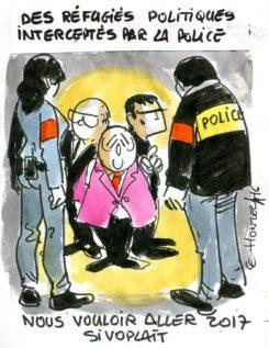 Réfugiés politiques interceptés par la police