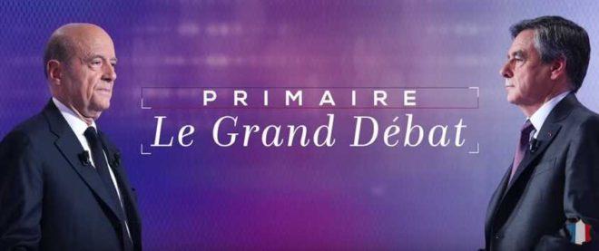 Capture d'écran du débat Fillon-Juppé