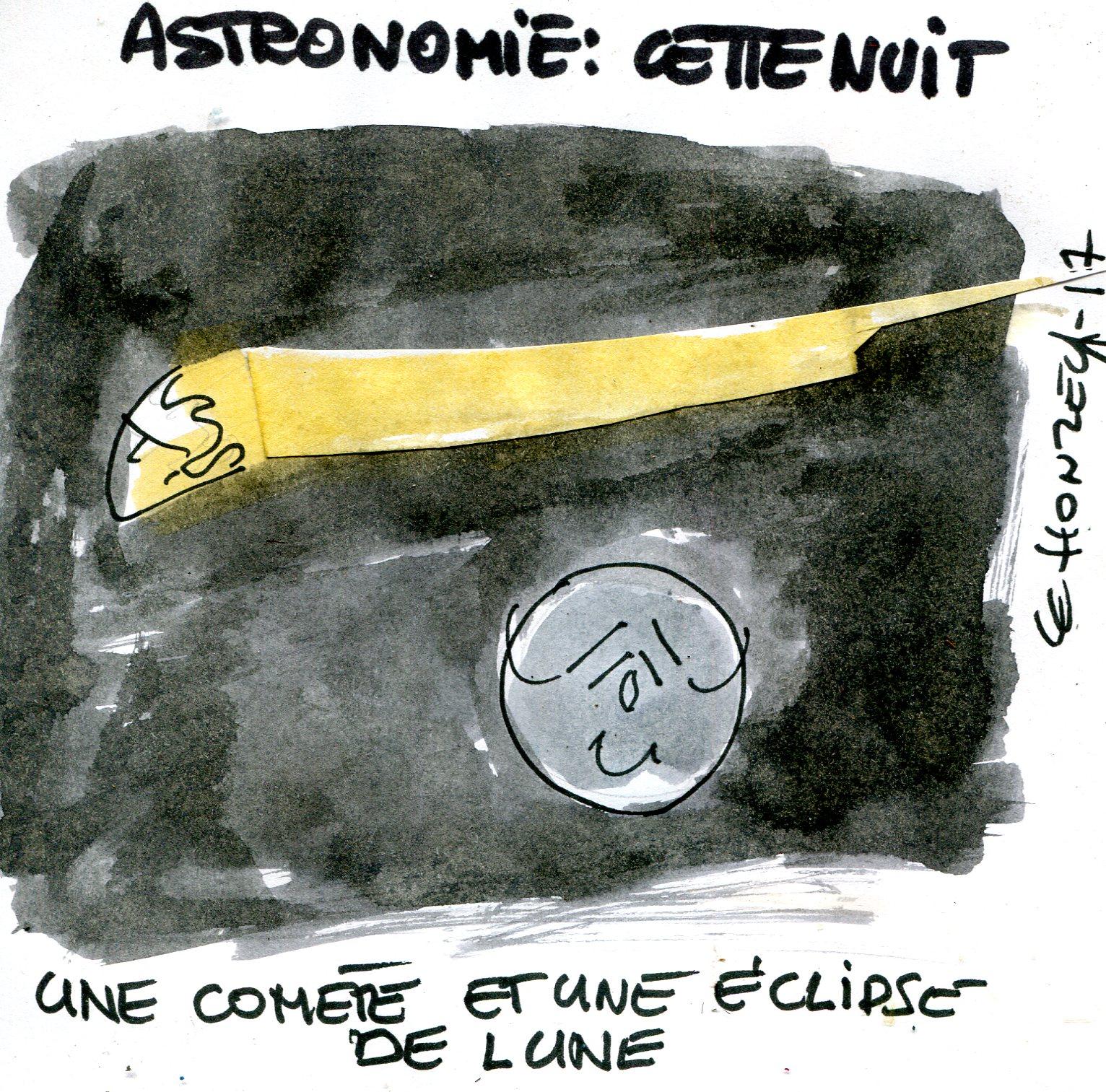 Emmanuel Macron comète (Crédits : René Le Honzec, CC-BY 2.0)