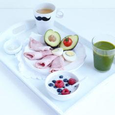 Ici un exemple de petit déjeuner LCHF.