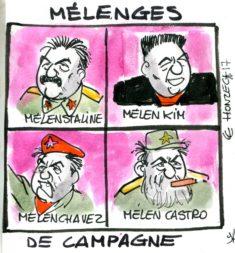 Différentes versions de Mélenchon (orthographe volontaire de Mélenges)