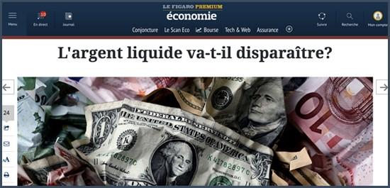 disparition de l'argent liquide
