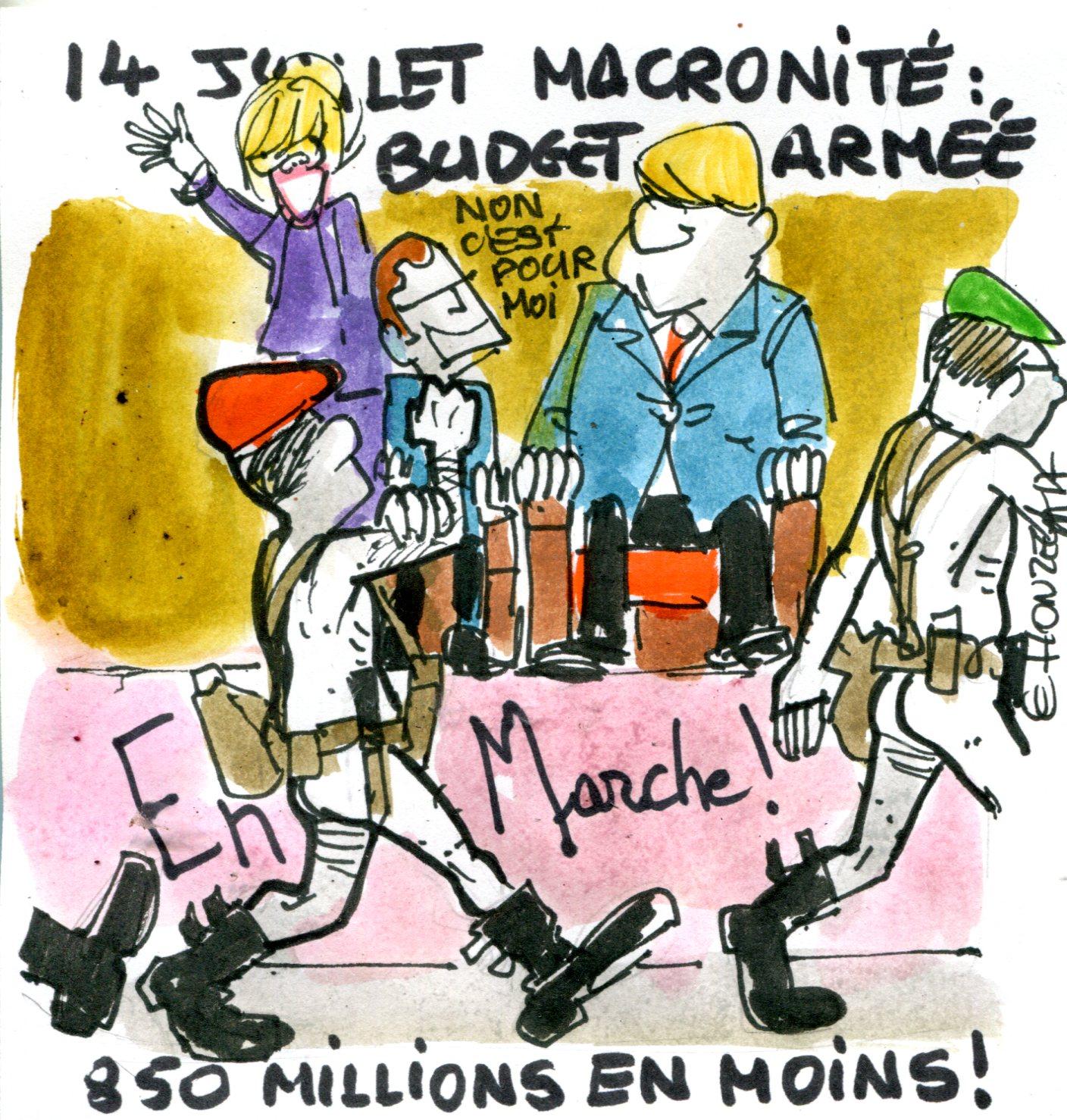 Emmanuel Macron baisse les dépenses aux armées (Crédits : René Le Honzec/Contrepoints, licence CC-BY 2.0)