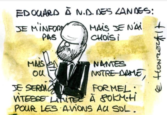 Edouard Philippe sur Notre Dame des Landes