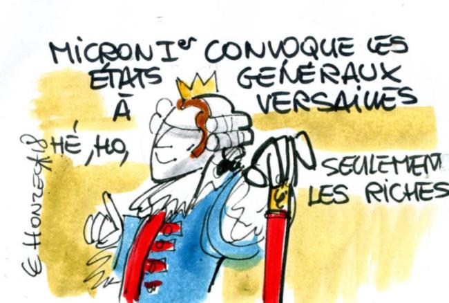 Macron à Versailles