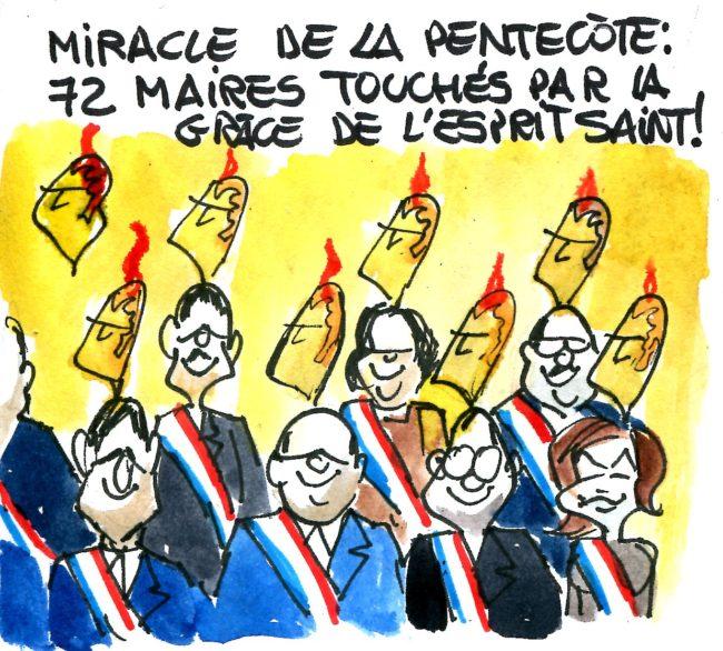Pentecôte : 72 maires touchés par la grâce de l'Esprit saint