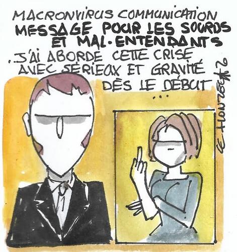 Macron : communication de crise